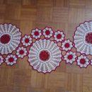 Belo-Rdeče kombinacija prtička