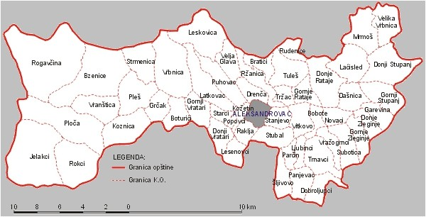 Karta Opstine Aleksandrovac Na Ovoj Karti Mozete Videti Sve