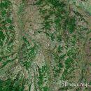 Satelitski snimak sela Veliki Šiljegovac. U ovom selu živi, svima nama poznat, Stole Vole.