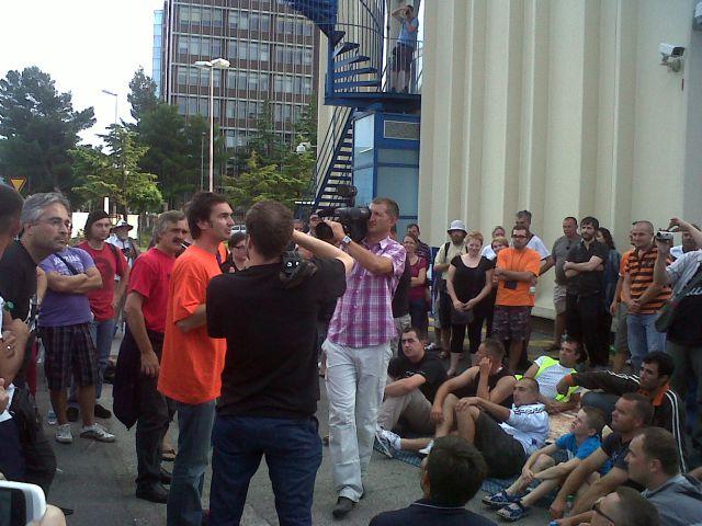 Štrajk u Luki Koper ... 29.07 ... 02.08. 2011 - foto