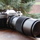 Canon AE-1 z Vivitar Telephoto 300mm