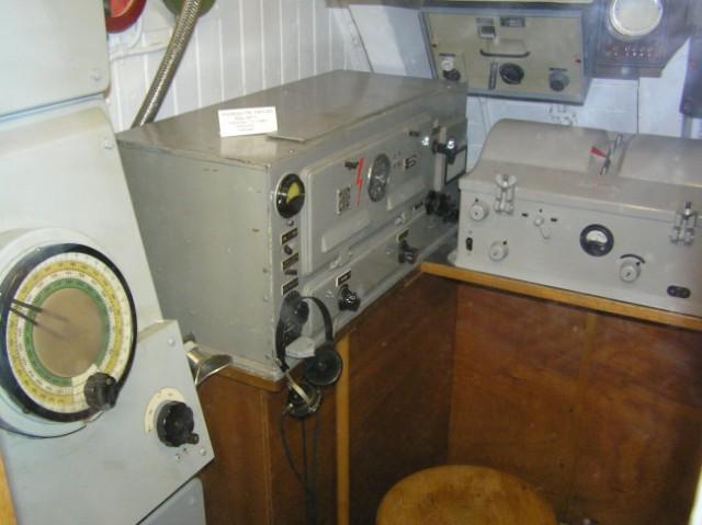 Delovno mesto moža, ki je upravljal sonar