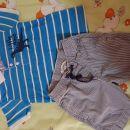 Komplet majica Dino Mana in kr.hlače HM st. 86 - 92  kompl. 5 eur