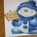 voščilnica Let it snow :))  meni je tok luštna