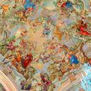 Poslikava ladijske kupole - freska, avtor Franc Jelovšek, 1752 - 53