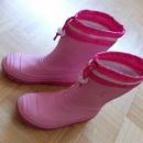 Dežni gumijasti škornji podloženi; 34