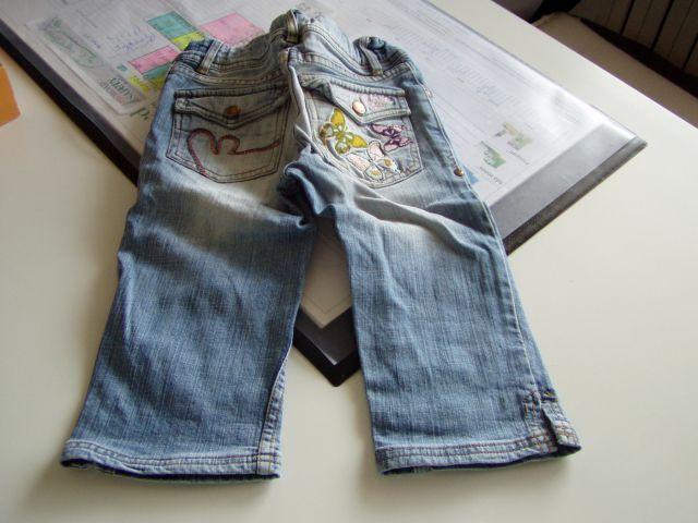 Dekliške kapri hlače 122/128 7-8 let   - foto