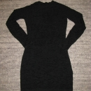 Črna mini obleka S 8€