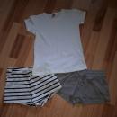 2 kratke hlače in majica 128/134 5€