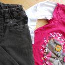 CHEROKEE žametne hlače + puli (vel. 128)