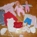 Dojenčka + oblačilca (vse skupaj 5€)