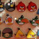 angry birds našitki - 13,00 komplet