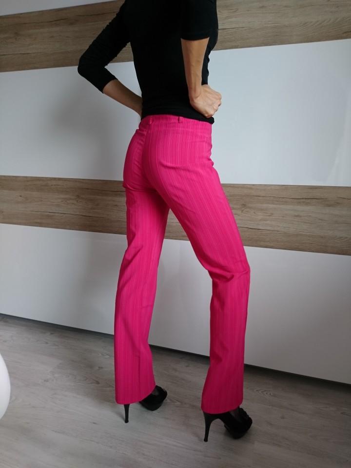 Ženske elegantne hlače, XS, pink, lepo padajoče, 5 eur