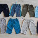 Komplet 8 hlač malček 74 / 80, 10 eur