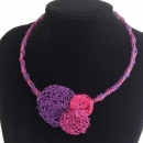 Ogrlica Bonbončki pink/purple