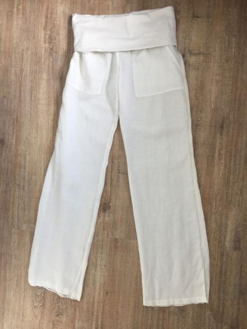 Mango bele lanene hlače, vel. 36