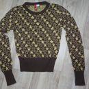 temno rjav pulover z zlatimi zvezdicami, s, 5 eur
