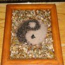 Unikatna kristalna slika jin jang