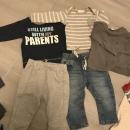 Next jeans, trenirka, in majice 15€ 6-9m