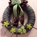 24-volnen zeleno rjav z vejo