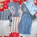 komplet več nošenih oblačil, ustrezajo za 5 letnika