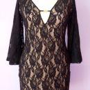 Čipkasta mini obleka v stilu 60ih (S) 12 EUR