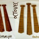 Unikatne lesene kravate iz jablane, octovca, oreha in ringloja; 45 €