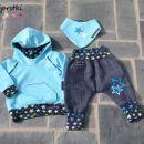 Baggy hlačke, hoodie in rutka-slinček