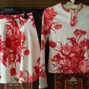 Belo-rdeče krilce in pulover