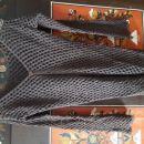 Rjava pletena jopica z gumbi