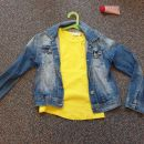 ZARA komplet, vel.ustreza vel.do S,jeans mehka kr.elastična jskna