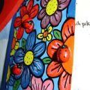mekol + akrilne barve + pikapoke