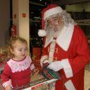 Srečanje z Božičkom v Sparu v Ajdovščini, december 2007