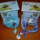 Darilo za birmo - maj 2006 - Šatuljica za nakit in svilena ogrlica z dodatnim obeskom za v