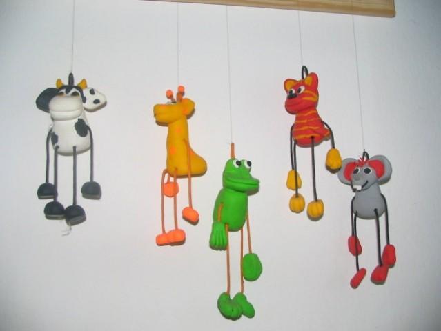 Figurice iz fimo mase, narejene po predlogi