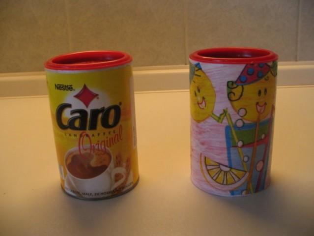 Dolgo nisem vedela, kaj naj s praznimi posodicami od bele kave, pol ste mi pa dale idejo:)