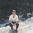 Ob potočku v Logarski dolini 1986