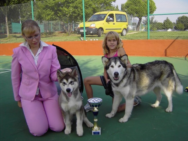 Cac Rovinj 2005: Maj, Panda, Anja and me :-)