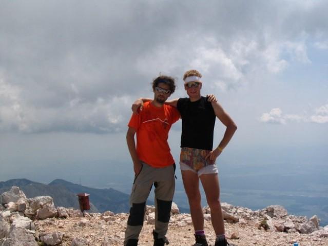 Klemen in moja malenkost na vrhu Grintovca.