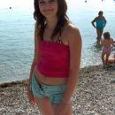 Jasmina on the beach