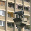 ...tudi kip volkulje, ki doji Romula in Remusa...