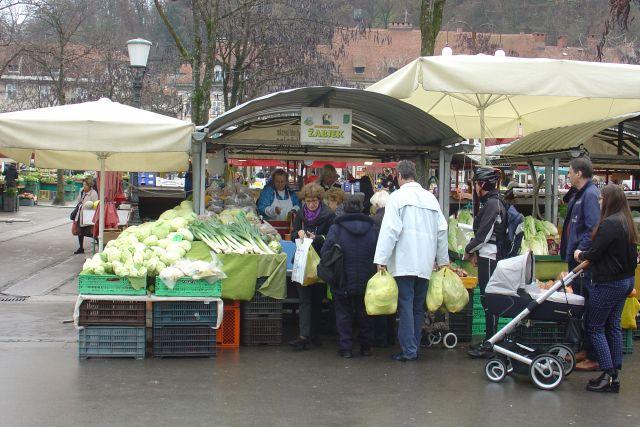 Na ljubljansko tržnico po zelje 23.11.2016 - foto