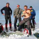 Ponoči je bila še snežna ploha in sodra, malo po sedmi uri zjutraj pa razposajenost na vrh