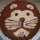 Lev za tamalo, 9 let. Pariška čokoladna krema. Torta pol čokoladna, pol jagodna.
