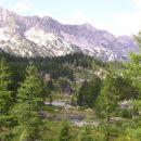 Pogled na Dvojno jezero in kočo