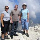 Po dveh urah in pol smo bili na vrhu