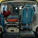Notranjost reševalnega vozila