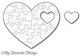Puzzle srček puzzle vzorček je samo embosiran