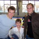 Znana judoista Klemen in Primož Ferjan sta me obiskala med treningom in mi izročila kimoni