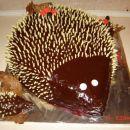 torta ježek za Vitin 2 rd.